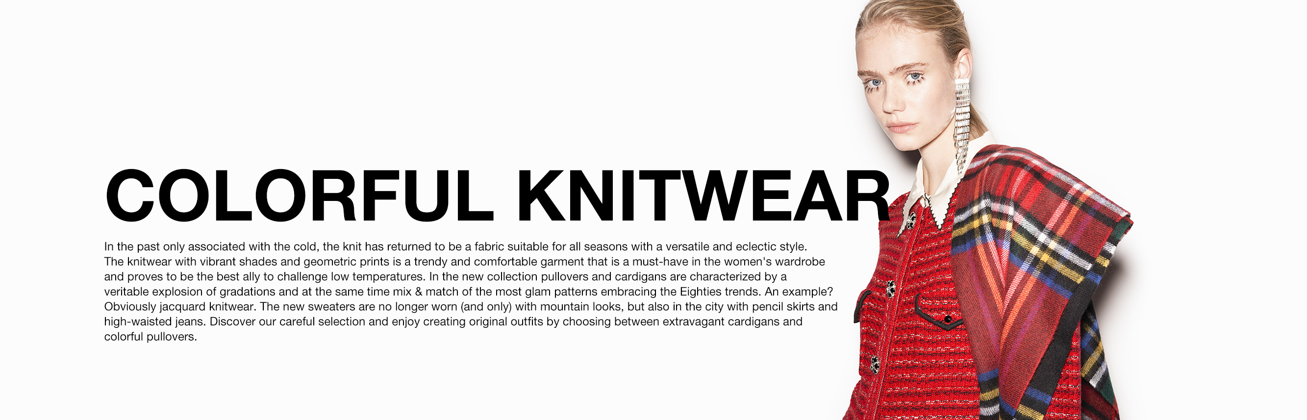 Colorful knitwear for women